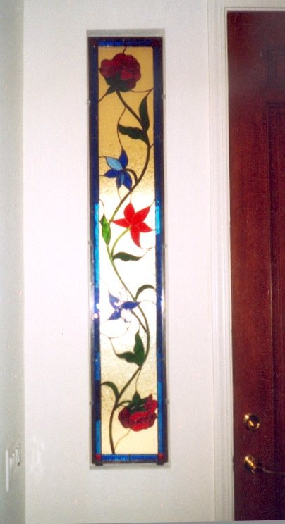 Studios stained glass doors i jacobean pattern in sidelights planetlyrics Image collections